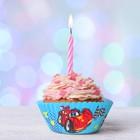 """Набор для выпекания кексов """"С Днем Рождения""""тачки, набор 24 формочки"""