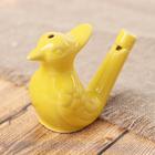 """Ceramic tin whistle """"Yellow bird"""""""