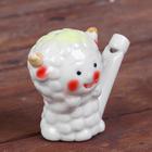 """Ceramic tin whistle """"Fun sheep"""""""