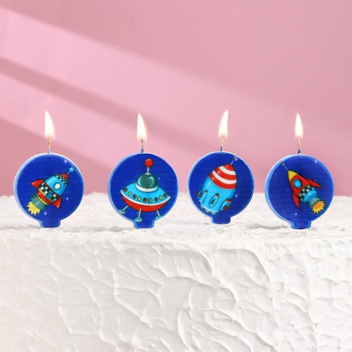"""Набор свечей в торт """"Космос"""" 5шт - фото 191761634"""