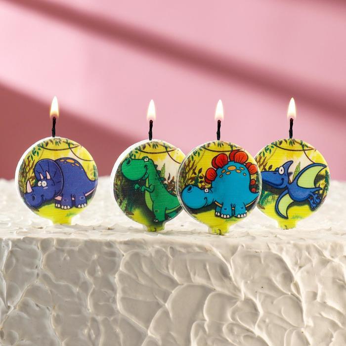 """Набор свечей в торт """"Динозавры"""" 5шт - фото 35609065"""