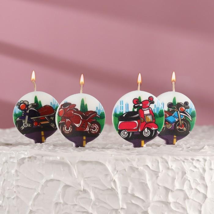 "Набор свечей в торт ""Мотоциклы"" 5шт - фото 186605156"
