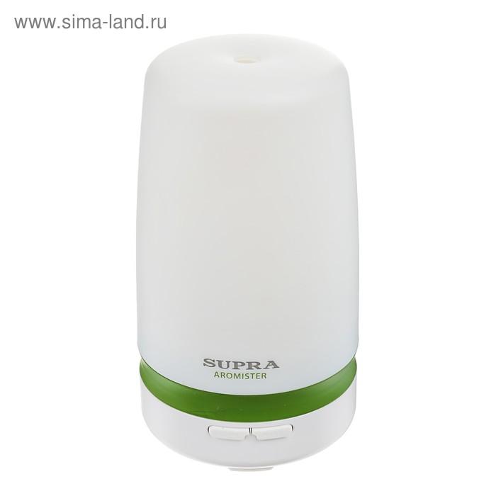 Аромадиффузор SUPRA HDS-510AR, 12 Вт, 7 цветов, 0.1 л, таймер, белый