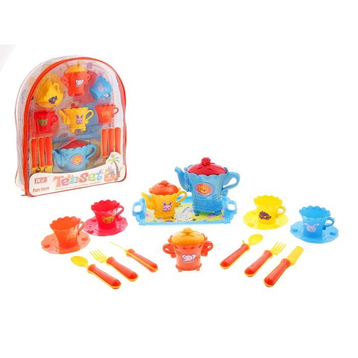 """Набор посуды """"Чайная церемония"""", 18 предметов, в рюкзаке"""