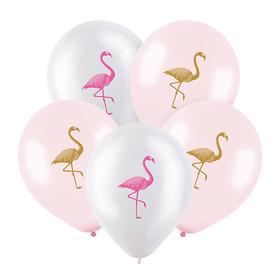 "Шар латексный 12"" «Фламинго», пастель, 2-сторонний, набор 100 шт., МИКС"