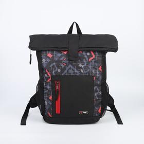 Рюкзак молодёжный, отдел на молнии, наружный карман, 2 боковые сетки, цвет чёрный
