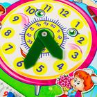 Календарь обучающий «Весёлые часы», из дерева - фото 105592265