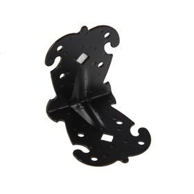 Уголок фигурный УКФ 70-70-60-У, цвет черный матовый