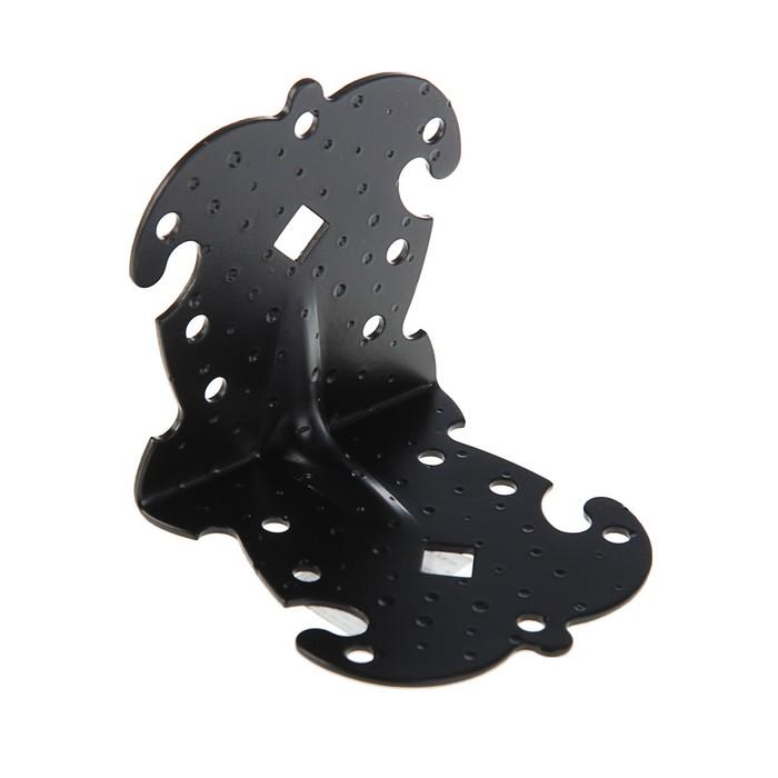 Уголок фигурный УКФ 105-105-100-У, цвет черный матовый