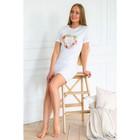 "Платье MINAKU, ""Spring"", размер 50, цвет белый"