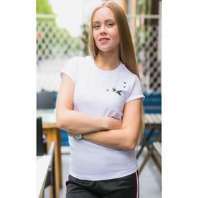"""Футболка женская MINAKU, """"Птицы"""", размер 42, цвет белый"""