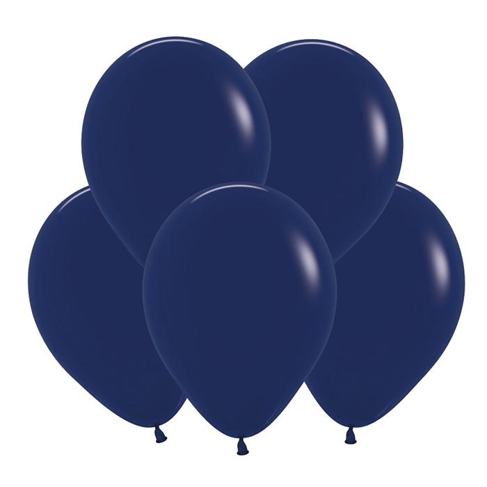 """Шар латексный 12"""", пастель, набор 100 шт, цвет тёмно-синий 044 - фото 177868212"""