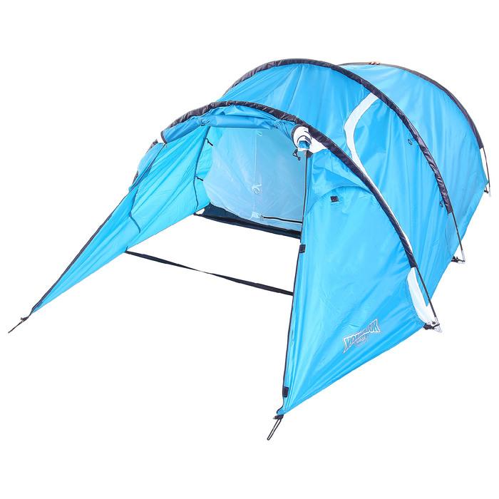 Палатка туристическая SIBERIA, 335 х 135 х 110 см, 2-х местная, цвет синий-айвори
