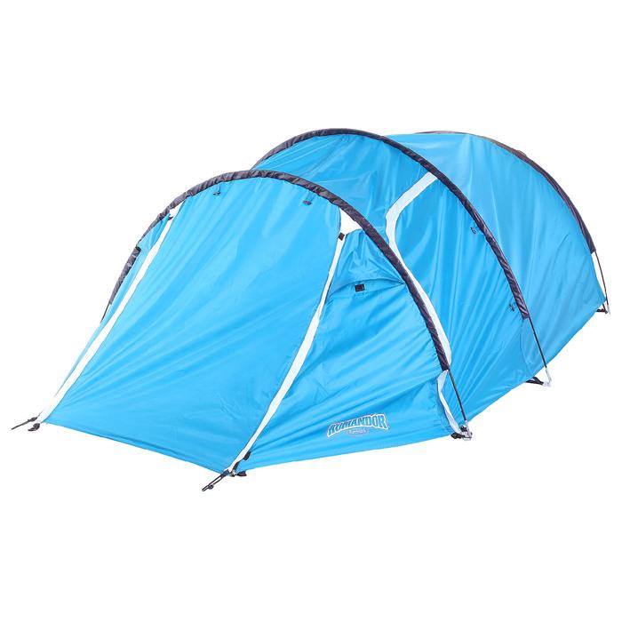 Палатка туристическая SIBERIA, 335 х 135 х 110 см, 2-х местная, цвет синий-айвори - фото 36215