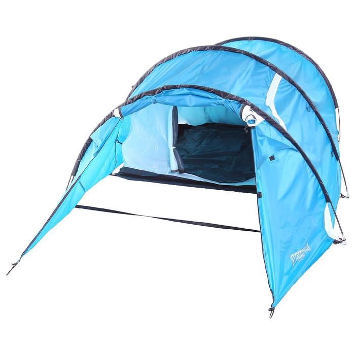 Палатка туристическая SIBERIA, 335 х 135 х 110 см, 2-х местная, цвет синий-айвори - фото 36216