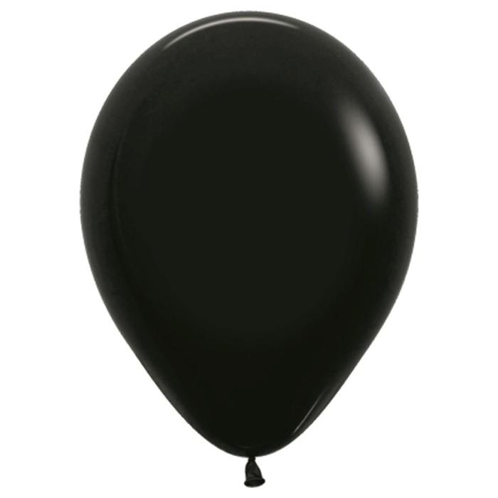 """Шар латексный 18"""", пастель, набор 25 шт, цвет чёрный 080 - фото 156468936"""
