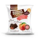 """Снэки фруктовые """"Живые фрукты"""" глазированные шоколадом персиковые , 35 гр."""