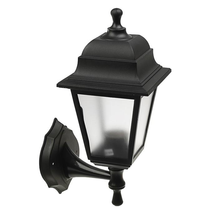 Светильник ITALMAC Nobile, четырехгранный, Е27, 60 Вт, IP44, черный, настенный