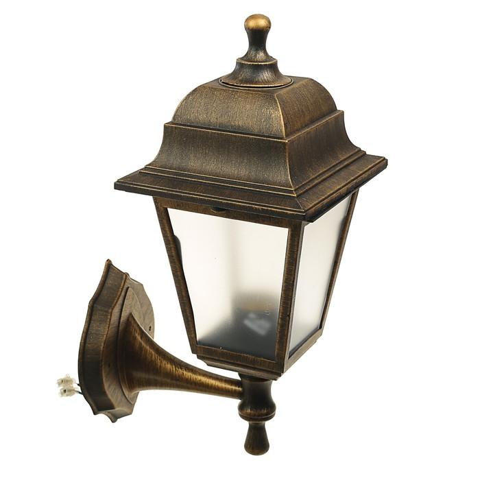 Светильник ITALMAC Nobile, четырехгранный, Е27, 60 Вт, IP44, состаренная бронза, настенный