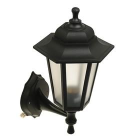 Светильник ITALMAC Nobile, шестигранный, Е27, 60 Вт, IP44, черный, настенный