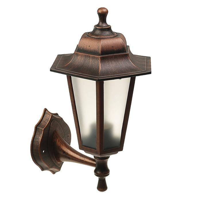 Светильник ITALMAC Nobile, шестигранный, Е27, 60 Вт, IP44, состаренная медь, настенный