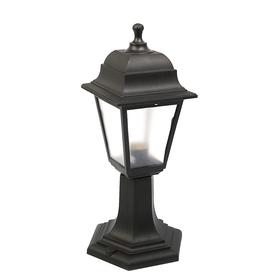 Светильник ITALMAC Nobile, четырехгранный, Е27, 60 Вт, IP44, черный, столбик
