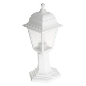Светильник ITALMAC Nobile, четырехгранный, Е27, 60 Вт, IP44, белый, столбик