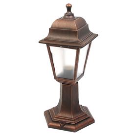 Светильник ITALMAC Nobile, четырехгранный, Е27, 60 Вт, IP44, состаренная медь, столбик