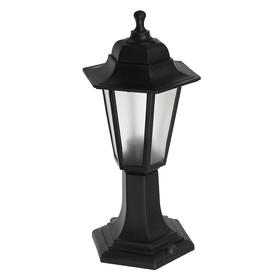 Светильник ITALMAC Nobile, шестигранный, Е27, 60 Вт, IP44, черный, столбик