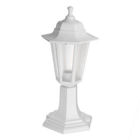 Светильник ITALMAC Nobile, шестигранный, Е27, 60 Вт, IP44, белый, столбик