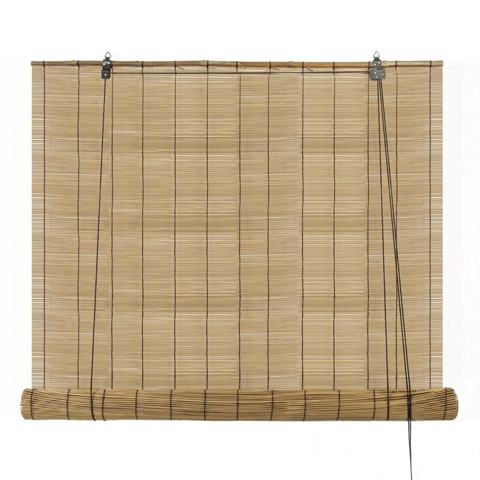"""Штора рулонная бамбук 160х160 см """"Идиллия. Муссон"""""""
