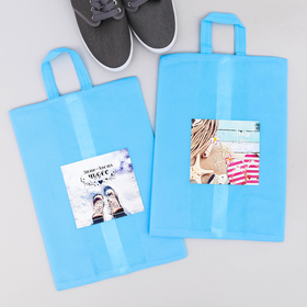 """A set of bags for shoes with a pen """"Winter is a time of miracles. Summer in my heart"""", 2 PCs., 35 x 25.5 cm"""