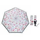 Зонт жен авт 3 слож R=49см 7 спиц мини эпонж P-17104-8 Fabretti