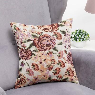 "Pillow case decorative ""Ethel"" Rose garden 40x40 cm"