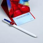 """Ручка на подставке с блоком """"Ты супергерой"""", Человек-паук"""