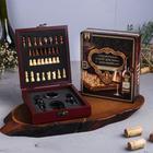 """Подарочные наборы для вина с шахматами """"Золотому человеку"""""""