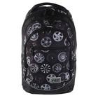 Рюкзак Hatber Street 42*30*20 для мальчика, «Диски», серый