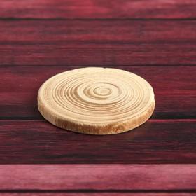 """Спил дерева """"Еловый"""", круглый, d=3-4 см, h=3,5 мм"""