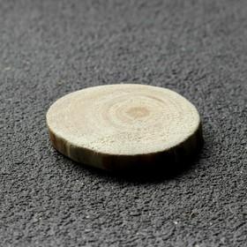 """Спил дерева """"Сосновый"""", круглый, d=3-4 см, h=5 мм"""