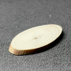 """Спил дерева """"Сосновый"""", овальный, d=3-4 см, h=3,5 мм"""