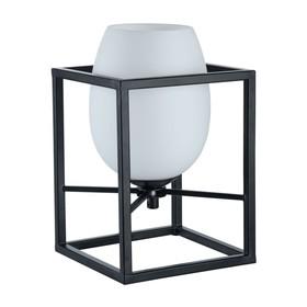Настольная лампа Cabin 1x40Вт E14 черный 16x16x24см