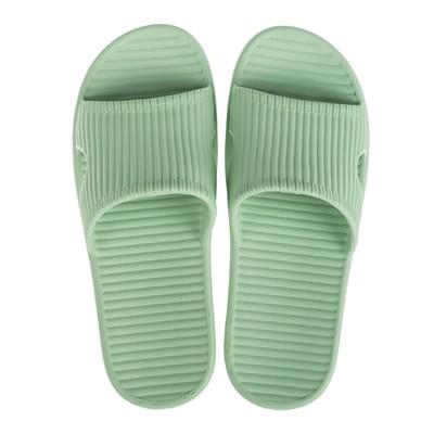 Сланцы пляжные женские арт. ASK-011, цвет зелёный, размер 37/38