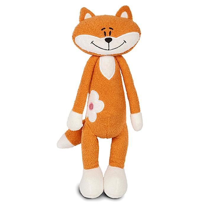 Мягкая игрушка «Лисичка», с цветочком, 33 см - фото 4468693