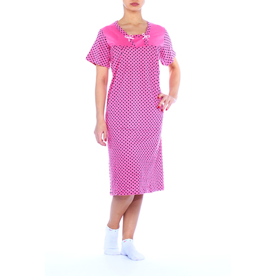 Сорочка женская с короткими рукавами 76052 цвет МИКС, р-р L