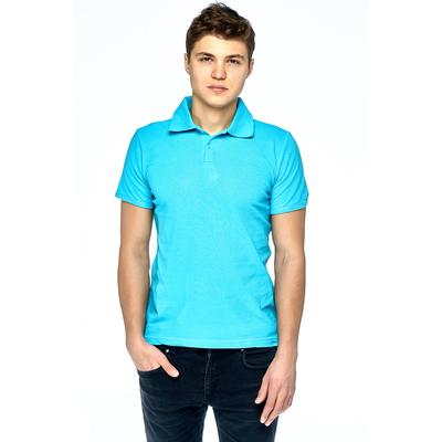 Футболка мужская поло 30310 цвет голубой, р-р XL