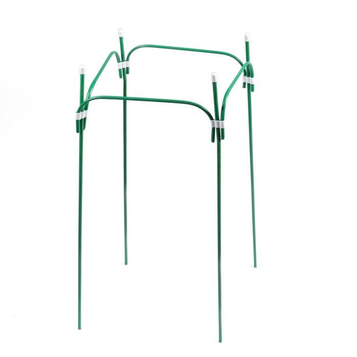 Кустодержатель, 35 × 35 см, h = 100 см, ножка d = 1 см, металл, зелёный