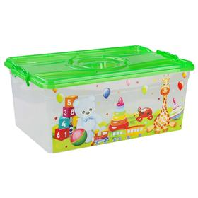 Контейнер для игрушек с крышкой, прямоугольный, 40 л