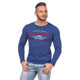 Фуфайка мужская 0735 цвет джинс, р-р 44-46 (L) Ош