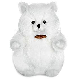 Мягкая игрушка «Толстый кот», цвет белый, 16 см