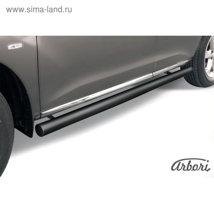 Защита штатных порогов Arbori d57 труба черная NISSAN MURANO 2011-